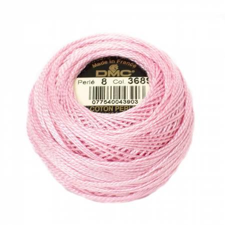 DMC Perle Cotton Balls Size 8 - 3689 Pink