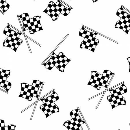 Racing Flags white/black