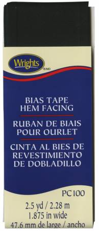 Hem Facing Bias Tape Black