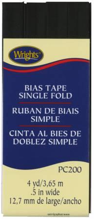Notions Single Fold Bias Tape Black 8 yds
