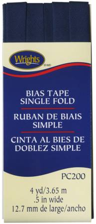 Single Fold Bias Tape Navy