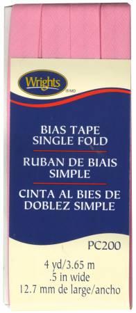 Wright's Single Fold Bias Tape Pink