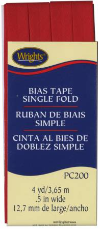 Bias Tape Single Fold Scarlet