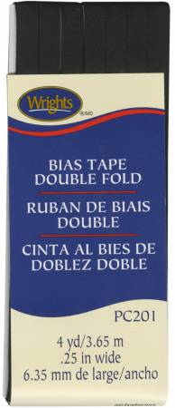 Double Fold Bias Tape Black 031