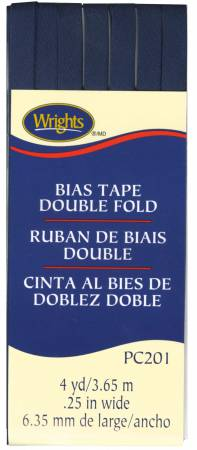 Double Fold Bias Tape Navy