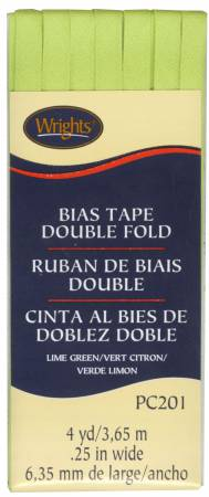 Double Fold Bias Tape Lime Green