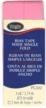 Wright's Bias Tape .875 Wide Single Fold Pink 202 061