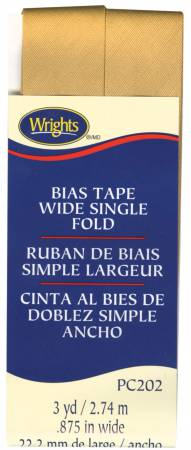 Wide Single Fold Bias Tape Tan