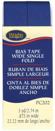 Wide Single Fold Bias Tape Yale Blue