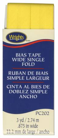Bias Tape Wide Single Fold Canary