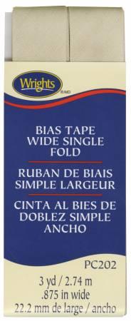 Wide Single Fold Bias Khaki