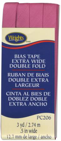 Extra Wide - Double Fold - Bias Tape - Bright Pink - W206-022