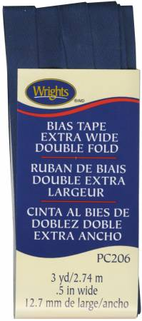 Bias Tape Wright's Extra Wide Double Fold Navy