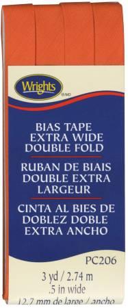 Extra Wide Double Fold Bias Tape Orange 058