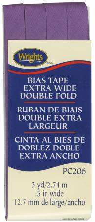 Wright's Bias Tape 1/2 Extra Wide Double Fold Purple 206 064