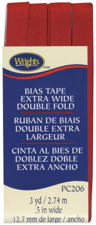 Bias Tape Wright's Extra Wide Double Fold Red