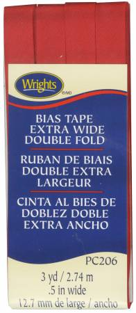 Extra Wide Double Fold Bias Tape Scarlet