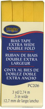Extra Wide - Double Fold - Bias Tape - Yellow - W206-079