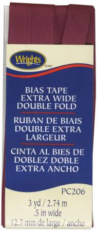 Extra Wide Double Fold Bias Tape Berry
