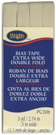 Extra Wide Double Fold Bias Tape Khaki 097