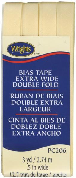 Wrights Extra Wide Double Fold Bias Tape Sunlight