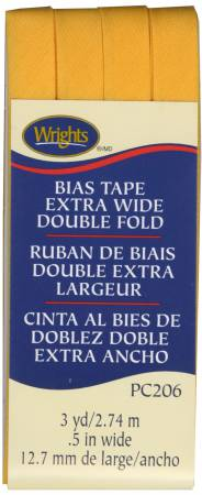 Wrights Extra Wide Double Fold Bias Tape Marigold