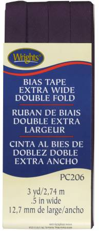 Extra Wide - Double Fold - Bias Tape - Blackberry - W206-2302