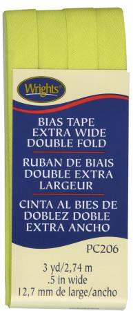 Extra Wide Double Fold Tape 3yd Citron
