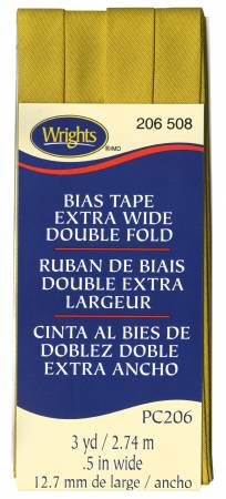 Extra Wide Double Fold Bias Tape 3yd Mustard