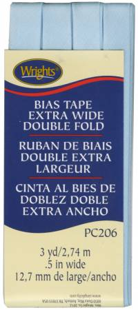 Extra Wide - Double Fold - Bias Tape - Blue - W206-515