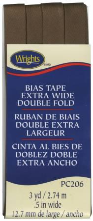 Extra Wide - Double Fold - Bias Tape - Mocha - W206-765