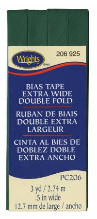 Extra Wide Double Fold Bias Tape 3yd Hunter