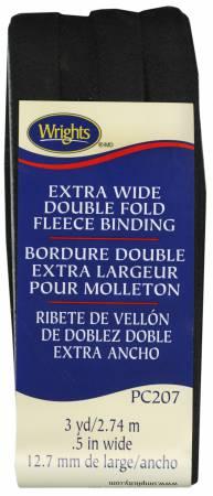 BLACK XWIDE DBL FOLD FLEECE BINDING