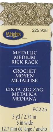Medium Rick Rack Metallic Antique Gold
