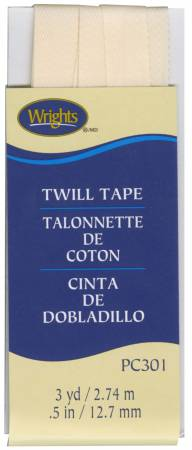 Twill Tape 1/2in Oyster
