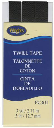 Twill Tape 1/2in Black