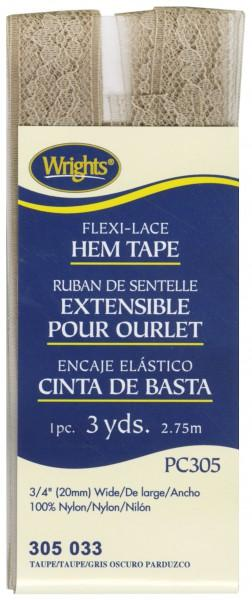 Flexi-Lace Taupe Hem Tape