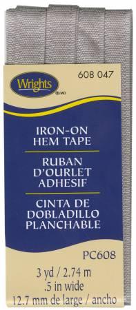 Iron-On Hem Tape Dark Gray - 047