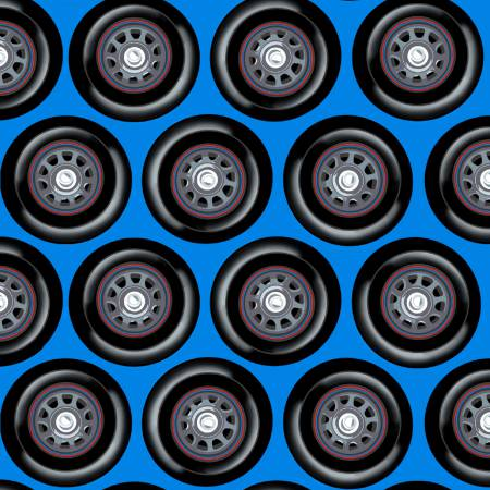 Wheels blue