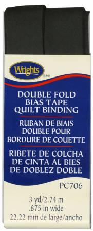 Double Fold Quilt Binding Black