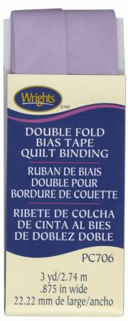 Wrights Double Fold Quilt Binding Lavender