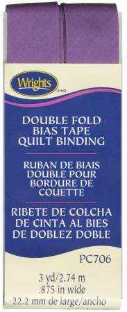 Double Fold Quilt Binding Purple