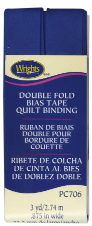 YALE BLUE DOUBLE FOLD QUILT BINDING