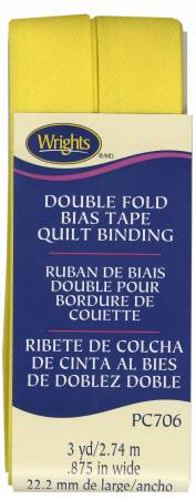 CANARY DOUBLE FOLD QUILT BINDING