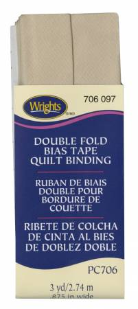 Quilt Binding 3yd Khaki
