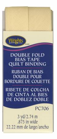 Wrights Double Fold Quilt Binding Sunlight