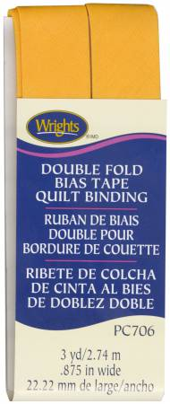 Wrights Double Fold Quilt Binding Marigold