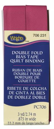 Wrights Quilt Binding 3yd Hot Magenta