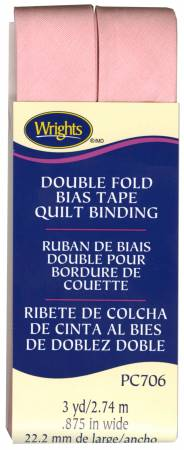 Double Fold Quilt Binding Light Pink