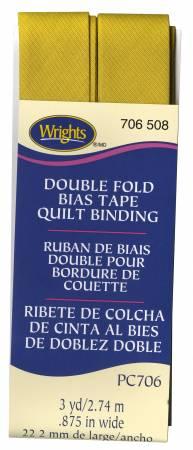 Quilt Binding 3yd Mustard